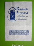 Servilleta,serviette .pastelaria Formosa,Portugal - Serviettes Publicitaires