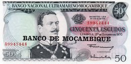 MOZAMBIQUE=1970      50  ESCUDOS    P-116   O/P   UNC - Mozambique