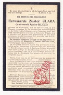 DP EZ Agatha Ollieuz - Soeur Zr. Clara ° Antwerpen 1872 † Sint-Joris-Winge Tielt-Winge 1917 / Couvent Champion Namur - Images Religieuses