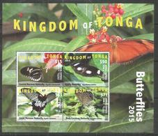 KINGDOM OF TONGA - MNH - Animals - Insects - Butterflies 2015 - Schmetterlinge