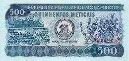 MOZAMBIQUE=1980      500  METICAIS      P-128     UNC - Mozambique