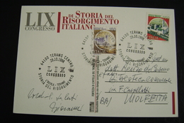 Congresso Di Storia Del Risorgimento Italiano 1998   L'Aquila  Teramo  VIAGGIATA A MOLFETTA  FDC    FIRST DAY  MAXIMUM - Francobolli (rappresentazioni)