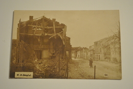 51 Marne Saint Souplet Sur Py  Carte Photo Allemande  Guerre Ruines De La 1ere Guerre Mondiale Militaire - France