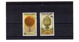 EDY 858 - GIBUTI , 2 Valori Usati A Tema MONGOLFIERE - Gibuti (1977-...)