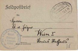 "WO 1  FELDPOST  : Brief BAHNPOST ""BRÜSSEL - COURTRAI / BAHNPOST Z.702.28.5.15"" + ""K. PR. LANDST. BAT. ESSEN"" - Deutsche Armee"