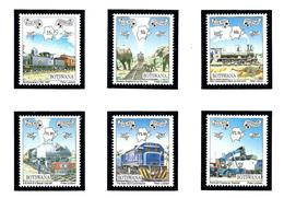 Botswana 638-43 MNH 1997 Trains - Botswana (1966-...)