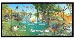 Botswana 709a MNH 2000 Wetlands Fauna S/S - Botswana (1966-...)