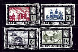 St Helena 197-200 MNH 1967 Tercentenary Of Settlers Arriving - Saint Helena Island