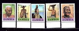Zambia 422-26 MNH 1987 Zambian People - Zambia (1965-...)