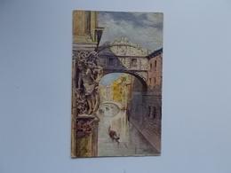 CPA -  VENEZIA - Pont Des Soupirs Et Gondola  Carte OLIO Procédé Brevété , Reliëf Painting - Venezia (Venice)