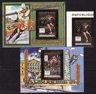 Guinea, 1993, Winter Olympics 1994, Foil, 1 Stamp + 2 Blocks Imperforated - Winter 1994: Lillehammer