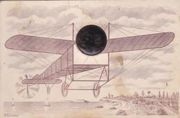 Thèmes > Transports > Aviation > Carte Photo Photo De Cabinet Enfant Dans Un Avion - Aviación