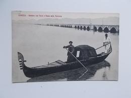 CPA -  VENEZIA -  1912 - Gondola Con Feize E Ponte Della Ferrovia - Venezia (Venice)