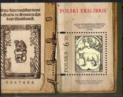 POLAND, 2018, MNH, POLISH EKSLIBRIS, BOOKS, BOOKPLATES, ANIMALS, BULLS, S/SHEET - Art