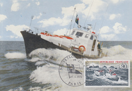 Carte Maximum  1er  Jour   FRANCE   Sauvetage  En  Mer    1974 - Cartes-Maximum