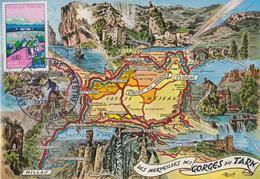 Carte Maximum  1er  Jour   FRANCE   Année  Du  Tourisme  Pédestre   FLORAC  1972 - Cartes-Maximum
