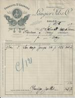 SALON DE PROVENCE LAUGIER FILS PRODUITS SAINT GEORGES HUILERIE A MR SCHMITT A VICHY  ANNEE 1929 - Francia