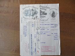 HAUBOURDIN EMILE BONZEL MANUFACTURE DE CHICOREE EXTRA A LA BERGERE KOKA DES CARMES FACTURE ET TRAITE DU 29 AVRIL 1933 - Frankrijk