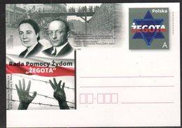 POLAND, 2017, POSTAL STATIONERY, MINT, WWII, JEWS, COUNCIL TO AID JEWS, ZEGOTA, PREPAID POSTCARD - WW2