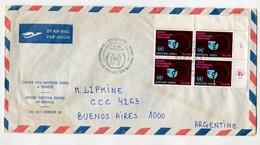 MATASELLO UNITED NATIONS NACIONES UNIDAS NATIONS UNIES SOBRE BY AIR MAIL PAR AVION CIRCULATED ARGENTINE -LILHU - Postzegels