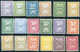 SURINAM  # 74-92    NUMERALS  DEFINITIVES  - 1913  VF - MLH - Surinam