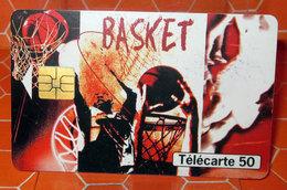 PHONECARD TELECARTE 50 SPORT BASKET - Francia