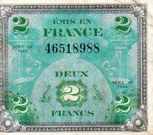 Billet Drapeau France - 2 Francs - 1944 Drapeau/France