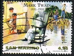 2010 - SAN MARINO - CELEBRI SCRITTORI - TWAIN - USATO / USED - Usati