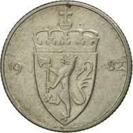 Monnaie, Norvège, Olav V, 50 Öre, 1982, TTB, Copper-nickel, KM:418 - Norvège