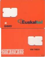 TARJETA TELEFONICA DE ESPAÑA, (GSM) EUSKALTEL, 352. - Espagne