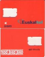 TARJETA TELEFONICA DE ESPAÑA, (GSM) EUSKALTEL, 353. - Espagne