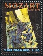 2006 - SAN MARINO - UOMINI FAMOSI / FAMOUS MEN - MOZART - USATO / USED - Musica