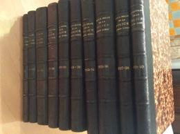 Revue Belge De La Police Administrative Et Judiciaire 1922 - 1940 (10 Volumes) - Police & Gendarmerie