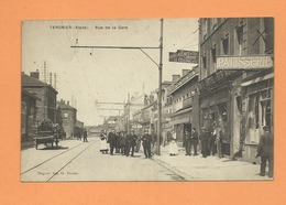 CPA - Tergnier  - (Aisne ) - Rue De La Gare - France