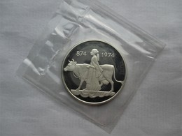 Iceland, 500 Kronur, 1974 Proof !! 1100th Anniversary - 1st Settlement. - IJsland