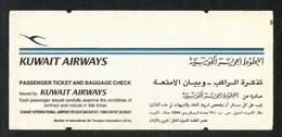 Kuwait Airways Airline Transport Ticket Used Passenger Ticket 3 Scan - Titres De Transport