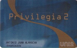 TARJETA TELEFONICA DE ESPAÑA. Privilegia2 - Personal Card. PRE-UN2-0016 (357). - Telefonica