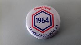 CAPSULE DE BIERE KRONENBOURG 1964 BLANCHE - Cerveza