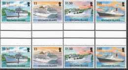 2004 Solomon Islands - Shipps: Cruise And Trade Shipps - Gutter Pair -MNH** MiNr. 1150 - 1153 Queen Elisabeth 2 (kk) - Salomoninseln (Salomonen 1978-...)