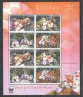 2005 Kiribati - WWF - Harlequin Shrimp - Sheetlet Of 2 Blocks Of 4 MNH** MiNr. 983 - 986 (kk) KW 23 Mie - Kiribati (1979-...)