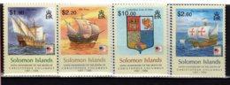 2006 Solomon Island - 500 Years Of Cr. Columbus Death -  4 V MNH** MiNr. 1300 - 1304   Ships (kk) - Salomoninseln (Salomonen 1978-...)