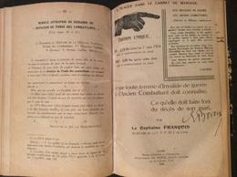 FRANCOIS - Pensions D'invalidité 1924 - Livres