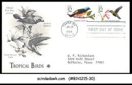 USA - 1998 TROPICAL BIRDS - 2V - FDC - 1991-2000