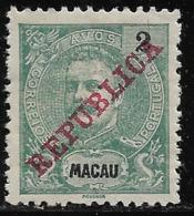 Macao Macau – 1911 King Carlos Overprinted REPUBLICA - Nuovi
