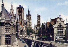 Gent - Sint Niklaaskerk - Belfort En Sint Baaiskert - Formato Grande Viaggiata Mancante Di Affrancatura – E 7 - Cartoline