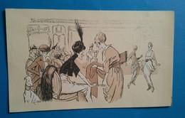 Litho Caricature Ancienne Femmes Mondaines Par SEM. - Lithographies