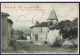 21371   CPA   VANDOEUVRE  : Vue Partielle Secteur église !! 1915 !!!  JOLIE CPA !! - Vandoeuvre Les Nancy
