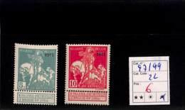 [820481]Belgique 1911 - N° 97/99,  Exposition, Tableau - Peinture - Art - 1910-1911 Caritas