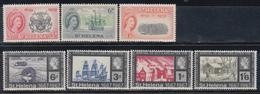 1959 - 1967.    YVERT Nº 138 / 140, 183 / 186,   /**/ - Saint Helena Island