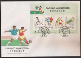 Macau Macao Chine FDC Block 1994 - Campeonato Mundial De Futebol - Football World Cup - U.S.A. - MNH/Neuf - Macao